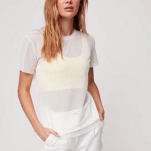 WILFRED FREE   NWT Jamilla T-Shirt White Mesh M